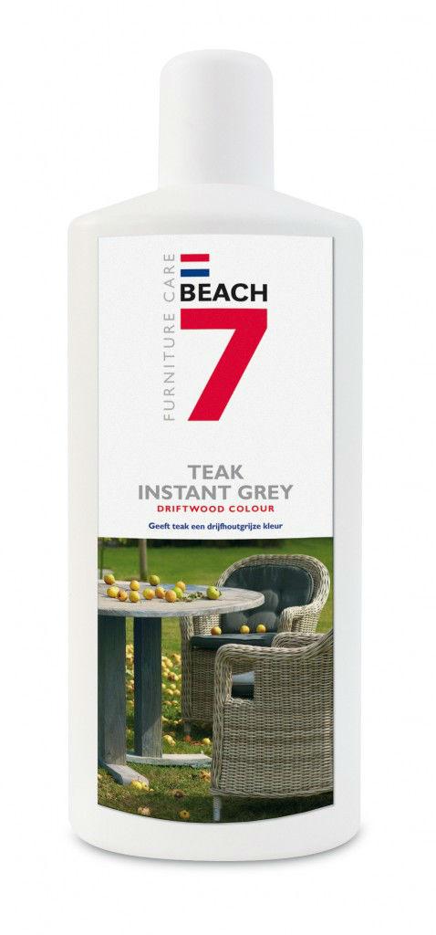 Beach 7 teak instand grey