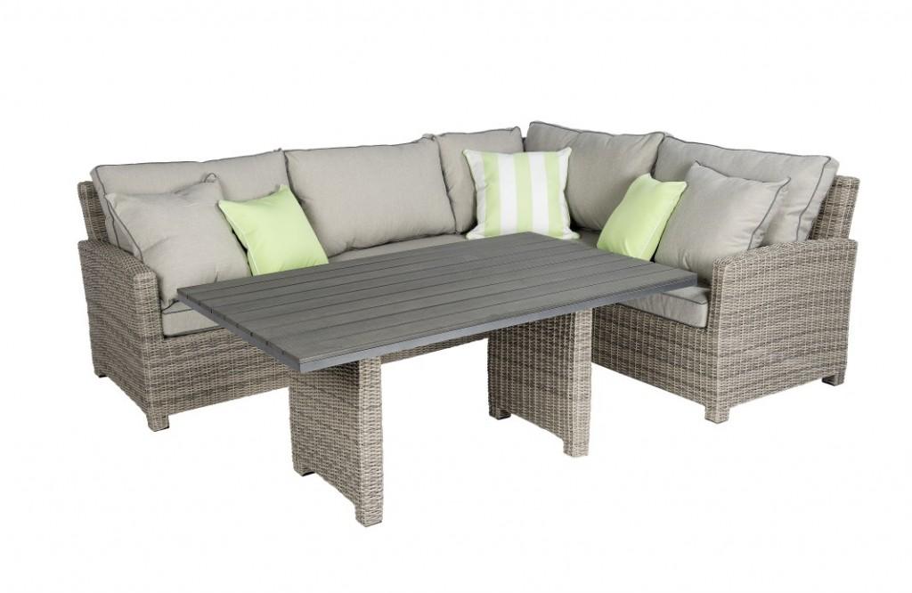 Beach 7 lounge diningset birdwood corn 3 delig rechts vivaldi xl zevenaar - Sofa vlechtwerk ...