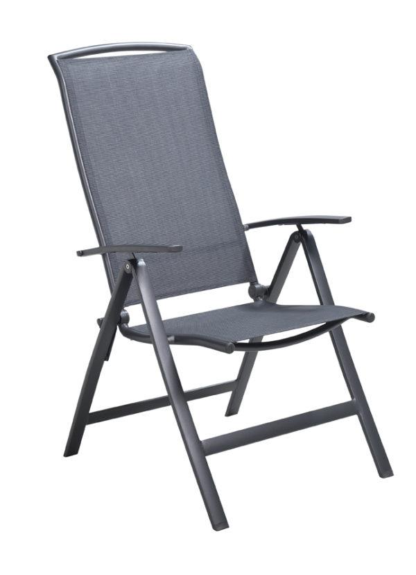 Vigostandenstoel aluminium/textilene