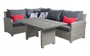 Beach 7 Birdwood Lounge Diningset Links Cloudy Grey