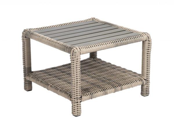 Mundo /Copa Cabana side table 60x60cm Sunrise +polywood top
