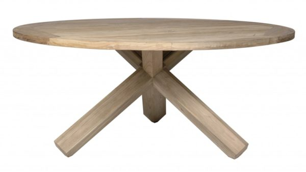 Teak tafel Ameland 150cm Vintage look grey