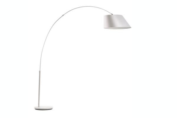 Arc vloerlamp wit