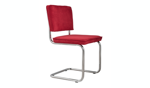 ZUIVER Ridge Rib diningchair rood