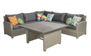 Beach 7 Birdwood Lounge Diningset XXL Links Cloudy Grey