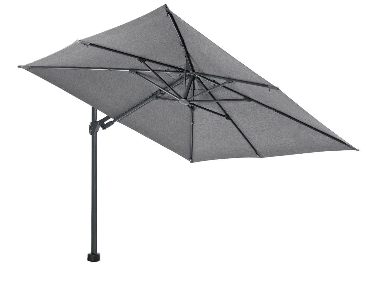 Beach 7 Parasol Kos 300×300 cm Stone Grey