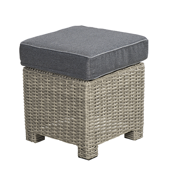 Beach 7 Birdwood Footstool 40x40cm Cloudy Grey