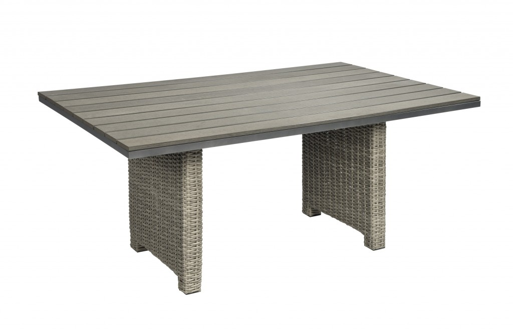 Beach 7 Birdwood Lounge Dining Tafel 150x90cm Cloudy Grey Polywood