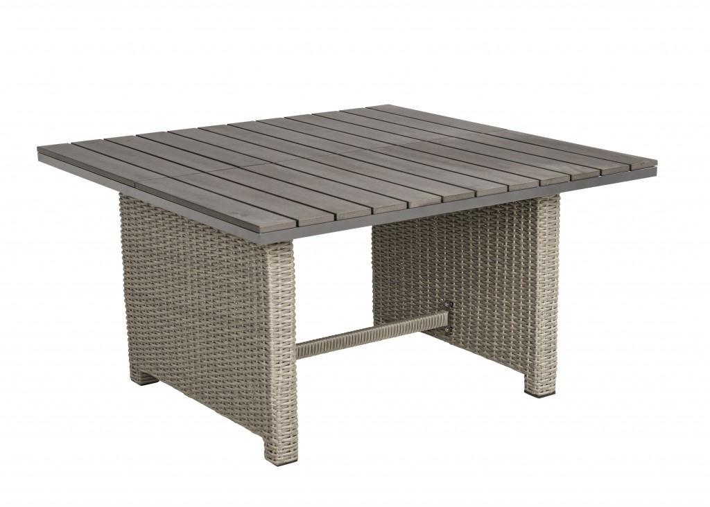 Beach7 Birdwood Lounge-Dining Tafel 120x120 cm Cloudy Grey