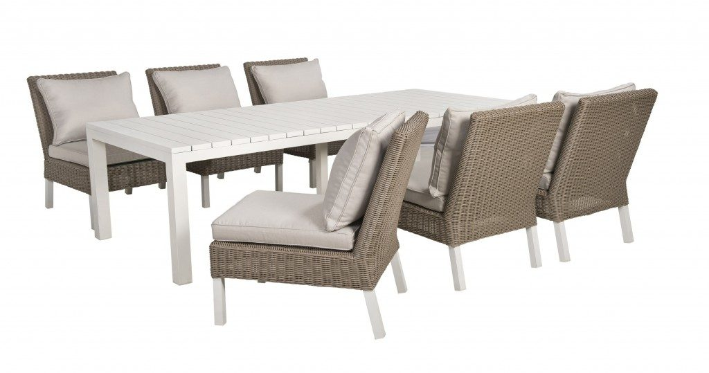 Havanna 7-delige lounge-diningset Beach7 Club Collection kleur: Cappuccino