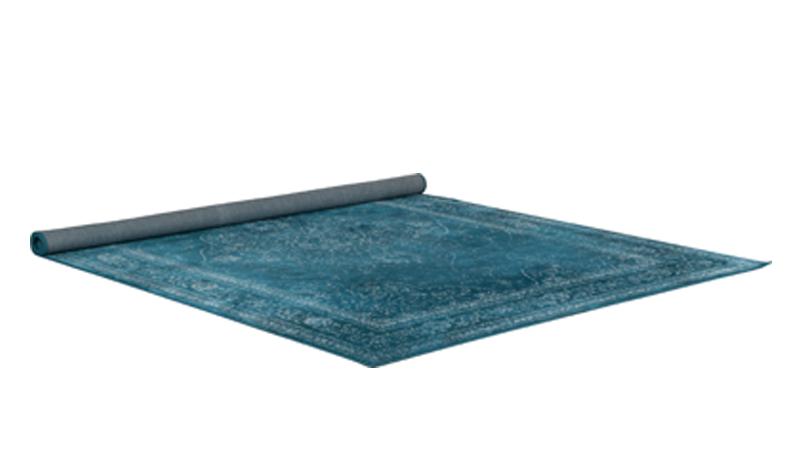 Rugged carpet Dutchbone 170 x 240 cm - ocean