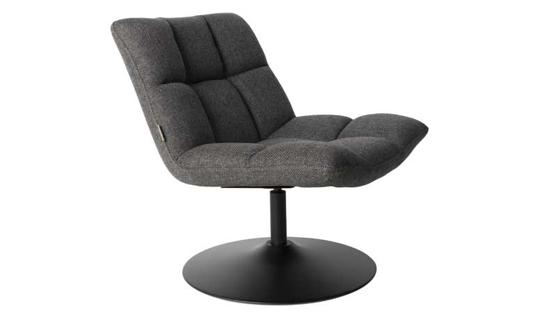Bar Lounge Chair Dutchbone - Dark grey