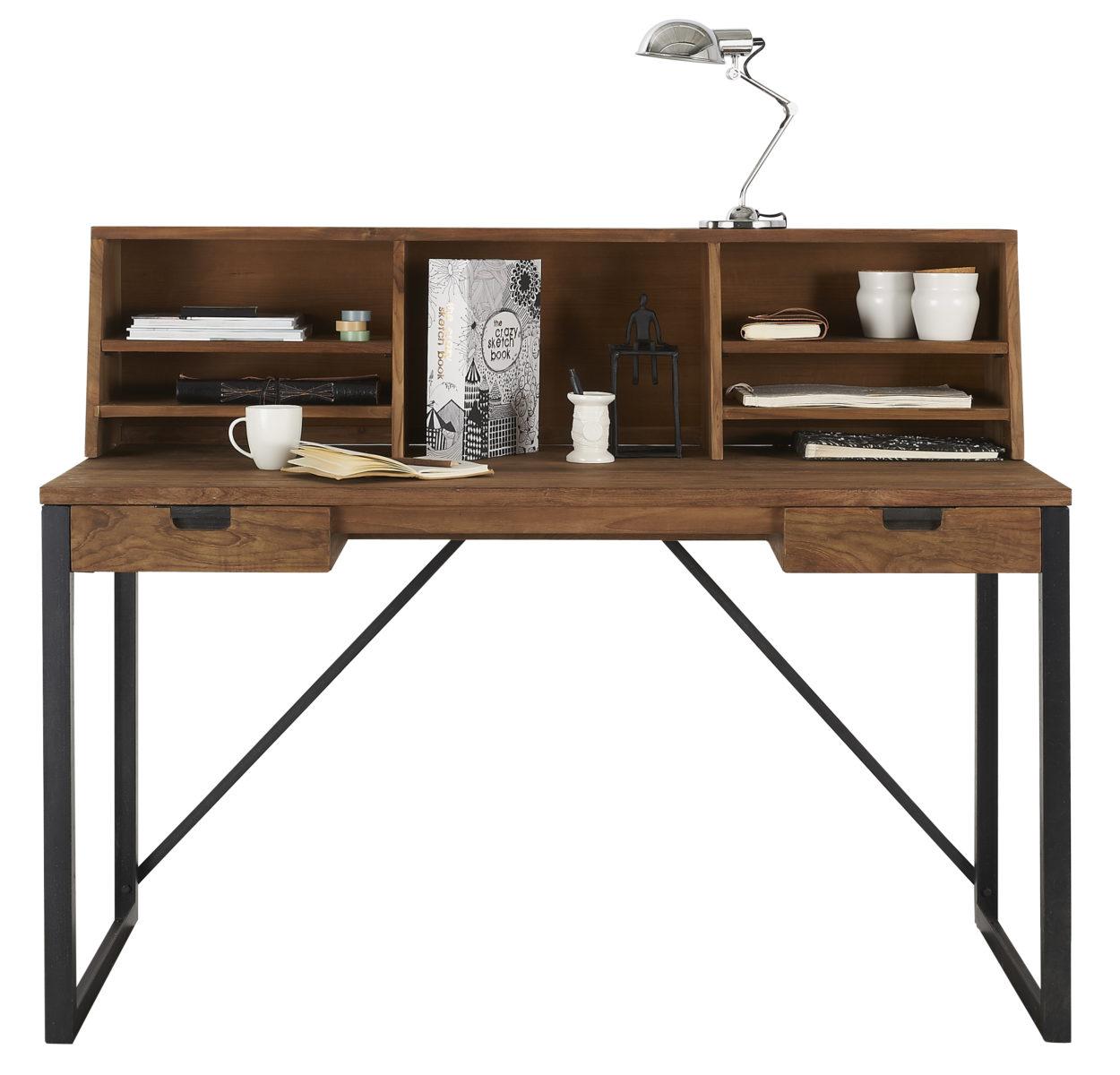 d bodhi fendy bureau 120 cm teak metaal vivaldi xl zevenaar. Black Bedroom Furniture Sets. Home Design Ideas