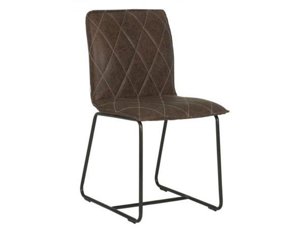 Eetkamerstoel Mersey - recycled leather brown