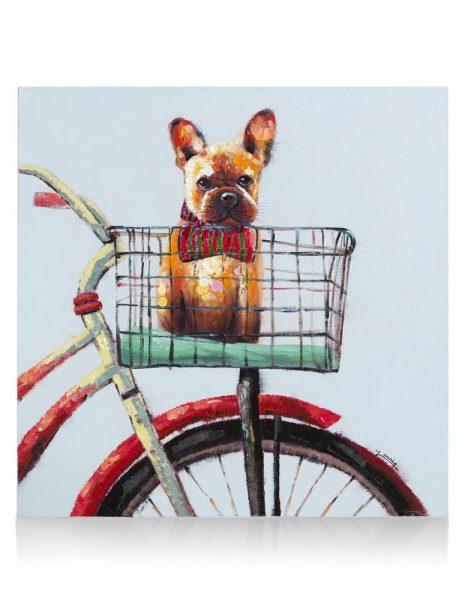 Youniq Schilderij Riding My Bike - 80 X 80 Cm