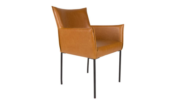Dion diningchair ZUIVER - cognac