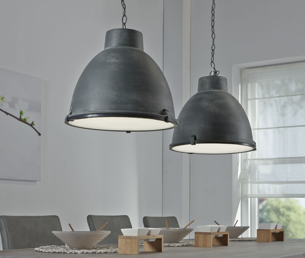 Hanglamp Industry Concrete u2013 2 lampen