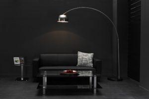 Vloerlamp boog - mat nikkel