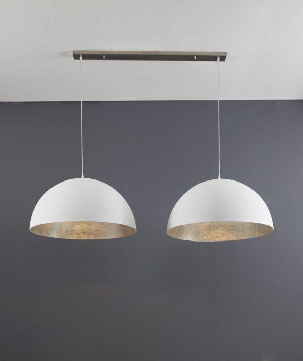Hanglamp 2L mat wit - doorsnede 70cm