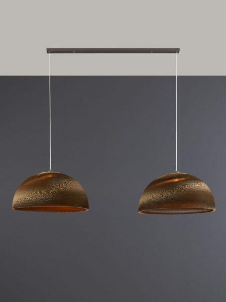 Hanglamp Carta XL bruin - halfrond 70 cm doorsnede