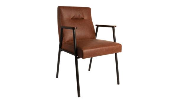 Dutchbone Fez armchair vintage brown