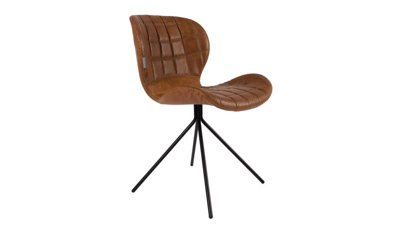 Chair Omg Leatherlook Brown Zuiver