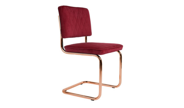 Chair Diamond Royal Red Zuiver