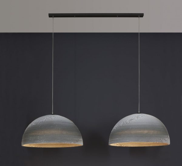 Hanglamp Carte wit - half rond 70 cm doorsnede