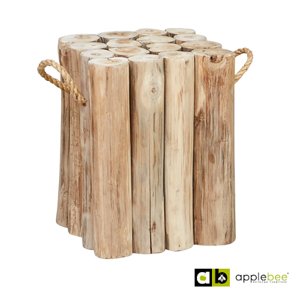 Apple Bee Sidetable Twiggy Teak