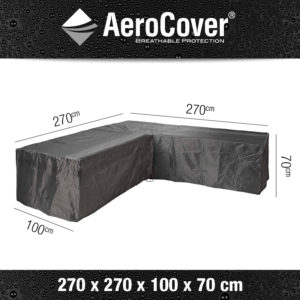 Aerocover Loungesethoes L-shape 270x270x100x70 7942