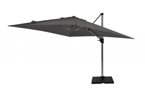 Beach 7 Parasol Granada Freepole 300x300cm Dark Grey