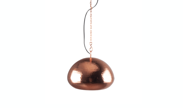 Hanglamp Hammered Oval Copper - Zuiver