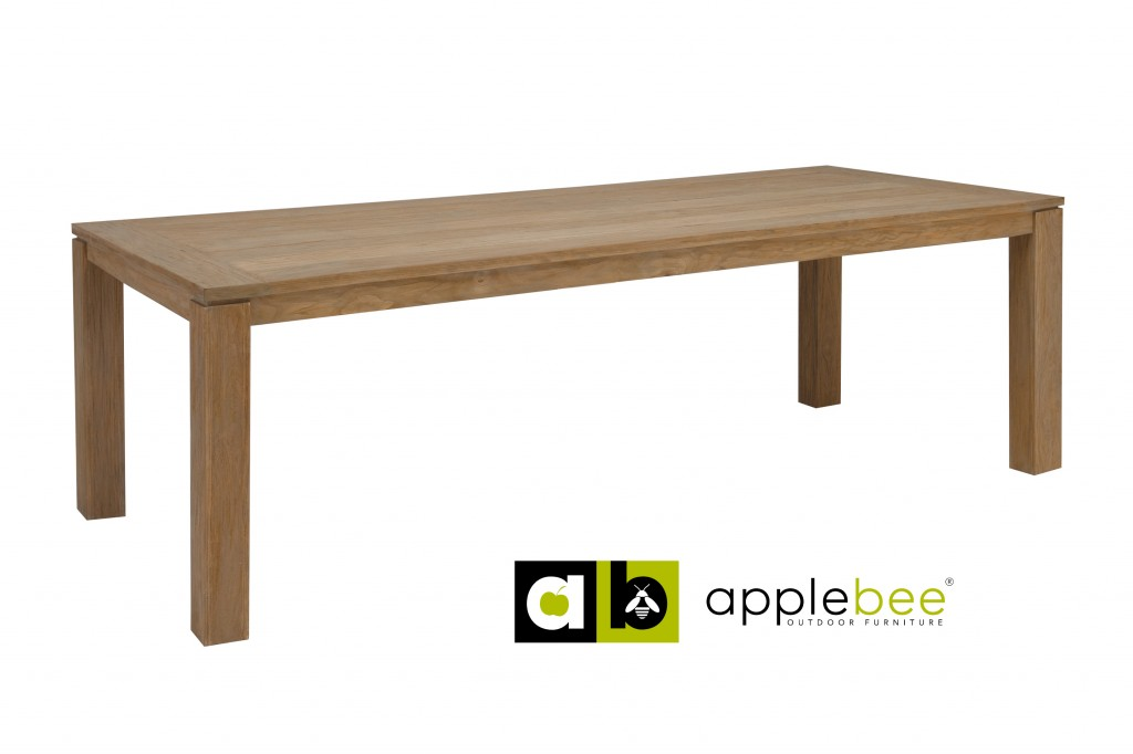 Apple Bee Tuintafel Oxford 296x100 cm Teak