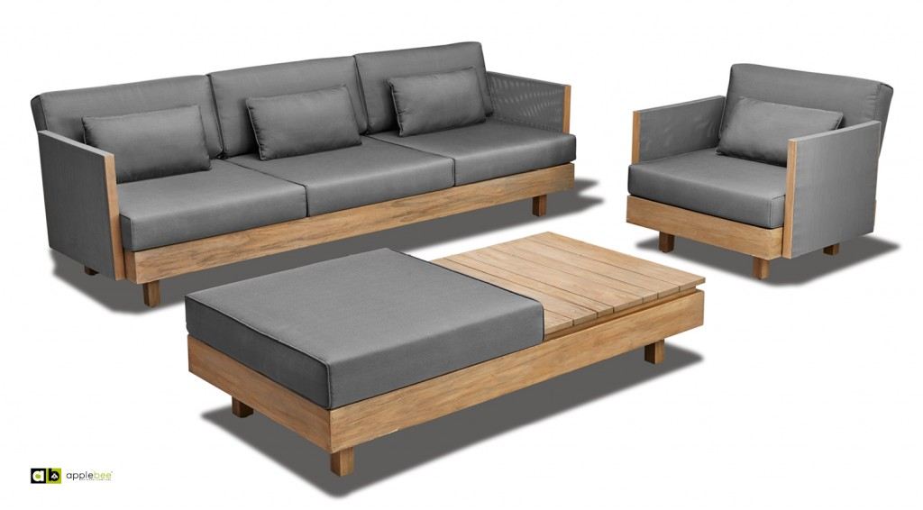 Apple Bee Loungeset Module X Teak Sofa Chair Coffeetable