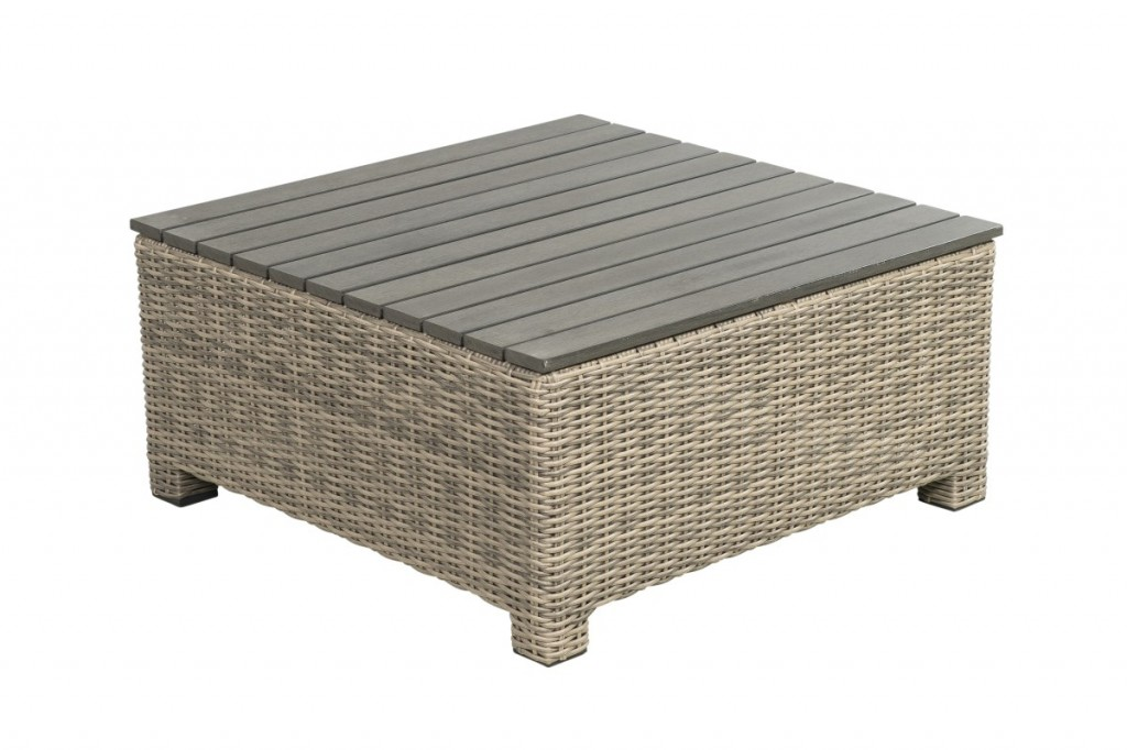 Beach 7 Birdwood Footstool 76x76 cm Corn Wicker