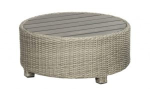 Birdwood Footstool 86 cm Cloudy Grey wicker