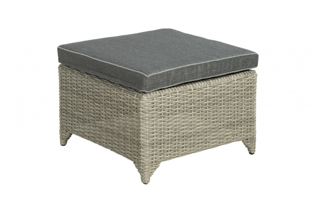 Beach 7 Adelaide Footstool 60x60 cm Cloudy Grey