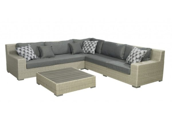 Beach 7 Loungeset Coral Bay 300x300 cm Cloudy Grey