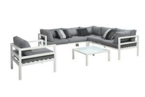 Garden Deals Sky Loungeset Aluminium White
