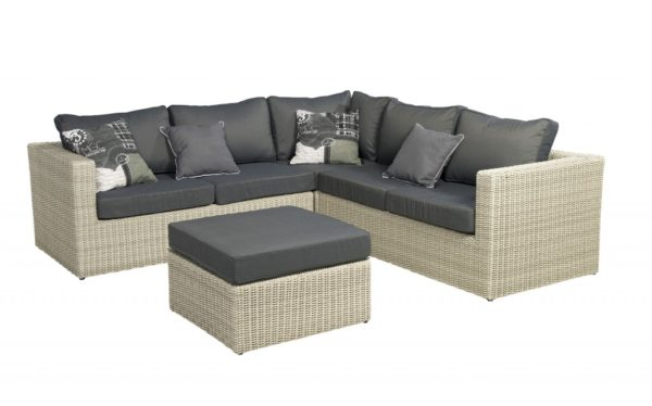Loungeset Bogota Laguna wicker Beach 7 240x240 cm