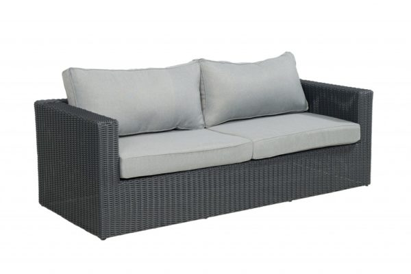Beach 7 Bogota Loungesofa 210 cm Mystic Grey Wicker
