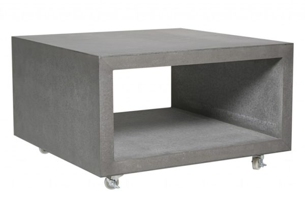 Beach 7 Cube coffeetable with wheels Cement Fibre