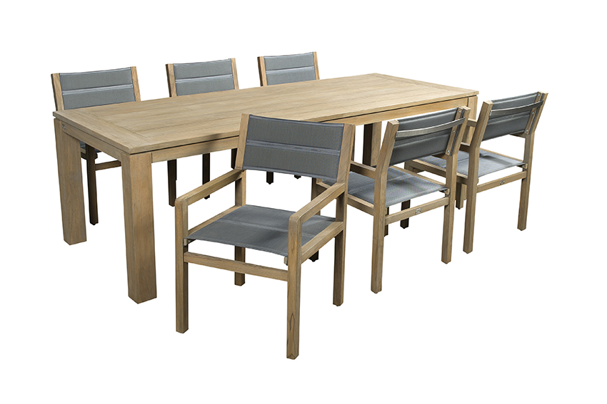 Apple Bee Diningset Del Mar Oxford 7-Delig Teak