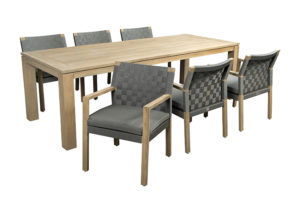 Apple Bee Tuinset Square Oxford 7-Delig Teak