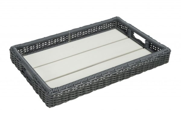 Dienblad beach 7 Mystic Grey wicker