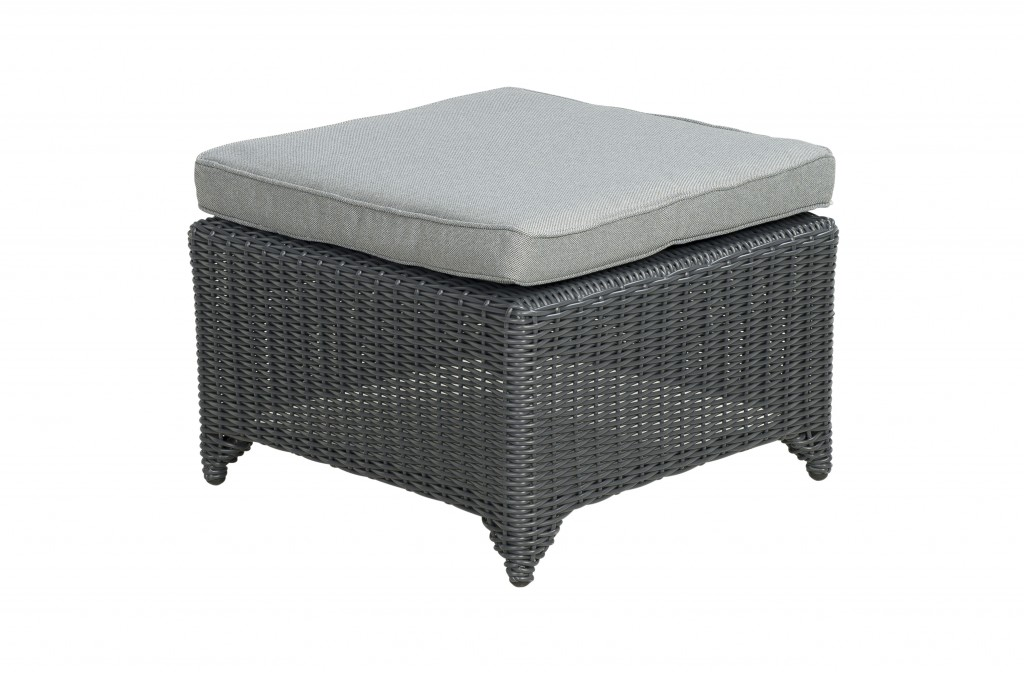 Beach 7 Footstool San Luis Mystic Grey Wicker