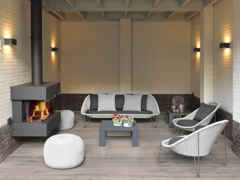 Borek loungeset pasturo iron grey delig vivaldi xl zevenaar