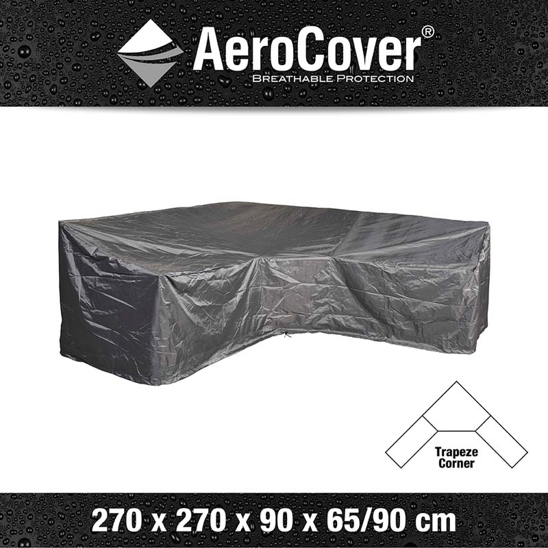 Aerocover Lounge sethoes 270x270x90 H65/90HB cm l/trapeze