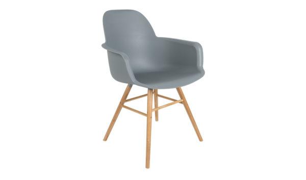 Albert Kuip armchair light Grey Zuiver - 10% stapelkorting vanaf 4 stoelen