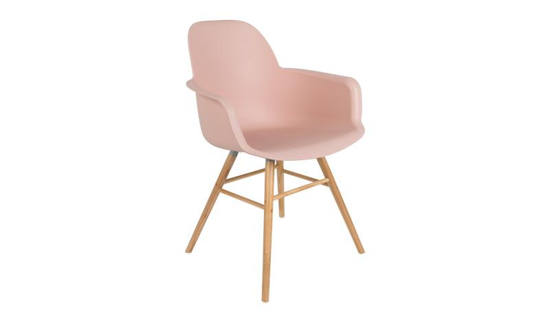 Albert kuip armchair old pink zuiver stapelkorting vanaf